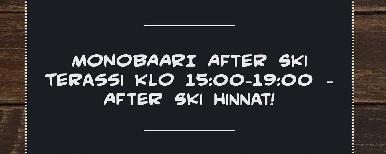 Tirolin After Ski Terassilla ja Monobaarissa! // DJ Kosteahumppa